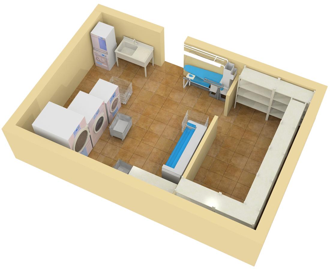 план прачечной дома